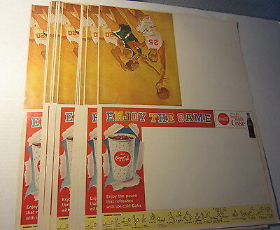 Lot of 15 Old Vintage 1950's COCA COLA Sports Poster Program Covers - BASKETBALL