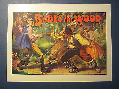 Old Vintage 1930's - BABES IN THE WOOD - Pantomime THEATRE - Mini POSTER