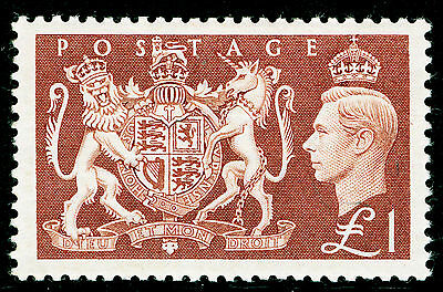 Sg512, £1 brown, UNMOUNTED MINT. Cat £45.