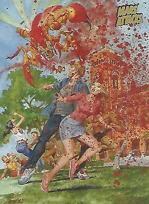 Mars Attacks Invasion - Gold Parallel Extra Gore Base Card #28