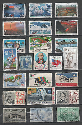 """R/gb17043, LOT OF 23 USED STAMP OF """"USA"""", ROUND CANCELLATION, ALL DIFFERENT"""