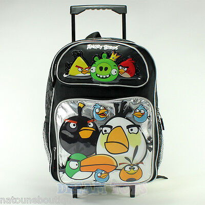 Trolley cartable a roulettes ANGRY BIRDS ARGENT 40 x 30cm sac a dos