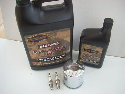 Service Kit for Harley-Davidson XL Sportster 84 & Later Oil, Filter & Plugs