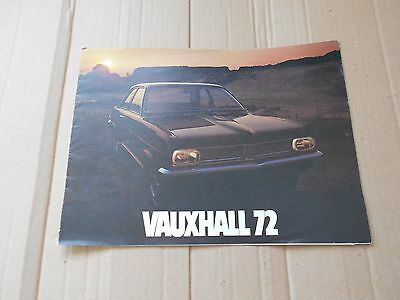 Vauxhall Range 1972 models original colour sales brochure
