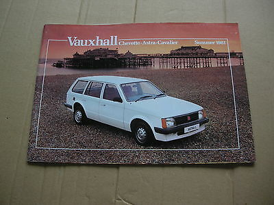 Vauxhall Chevette, Astra and Cavalier range Original colour sales brochure