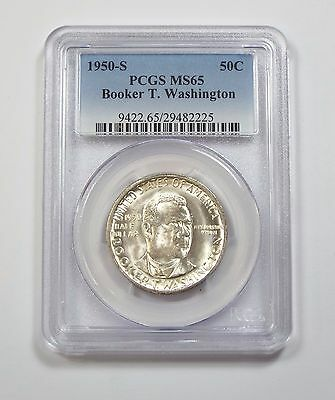 1950-S Booker T. Washington Memorial Commemorative Silver 50c PCGS MS 65