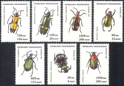 Madagascar 1993 Insects/Beetles/Bugs/Chafers/Nature/Conservation 7v set (s37)