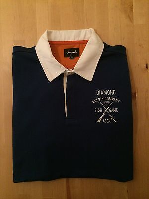 Diamond Supply Co Game Association Rugby Blue Xl