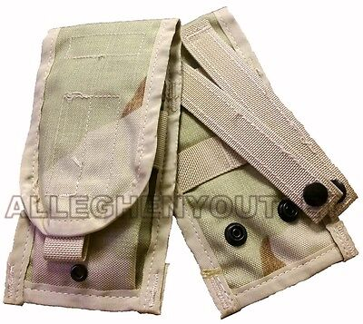 NEW Double Mag Pouch Desert Camo DCU Molle 2 Magazine Pouch US Military