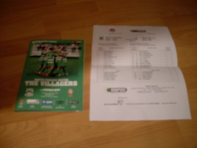 north ferriby united v lincoln city programme and teamsheet 2016/17