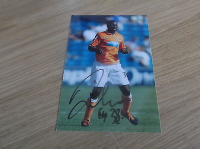 Blackpool fc Nouha Dicko signed 6x4 action photo