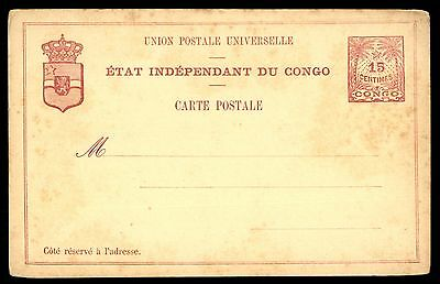 Congo Congo 15C Stationery Issue Card Unused Postcard