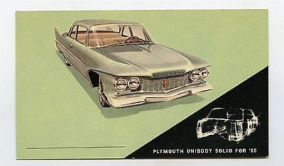 1960 Plymouth Savoy 2 Door Sedan ORIGINAL Factory Postcard ft1918