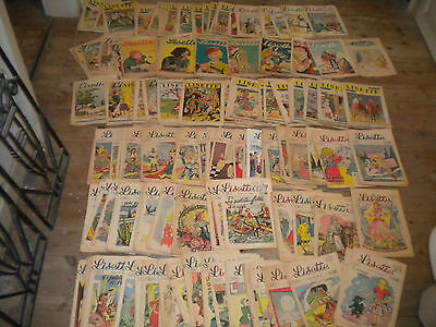 Collection 242 issues x Vintage comics Lisette girls French 1940s