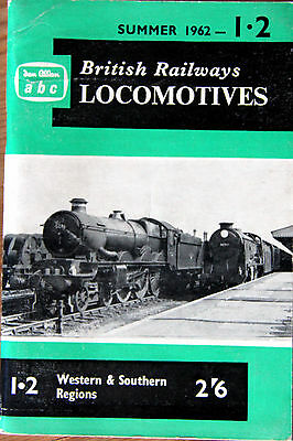 Ian Allan Abc - British Railways Locomotives Western & Southern 1962 - Unmarked