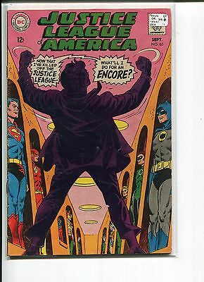 Justice League Of America 65 Vg+  Jsa  1968