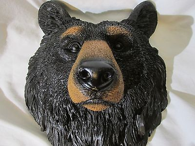 "American Black Bear Wall Plaque Hanging Figurine Home Decor Large 9.5""h ,WILD"