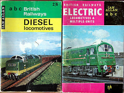 IAN ALLAN ABC - 2 x BRITISH RAILWAYS ELECTRIC & BRITISH RAILWAYS DIESELS 1963