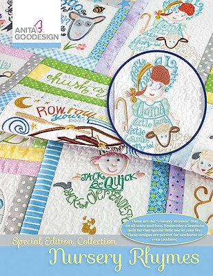 Anita Goodesign Embroidery Machine Design CD NURSERY RHYMES SPECIAL EDITION