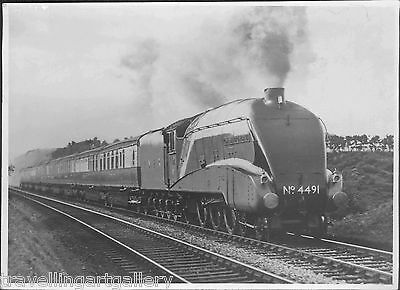 A4 4-6-2 LOCO 4491 COMMONWEALTH OF AUSTRALIA CORONATION 7x5 LNER OFFICIAL PHOTO