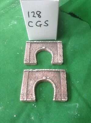 2x single tunnel  - Z scale gauge- painted and weathered-  Brick Type