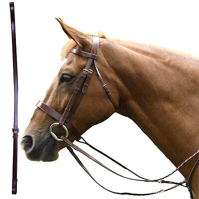 Hilason Cob Oak Leather Exselle Elite Standing Horse Martingale Attachment