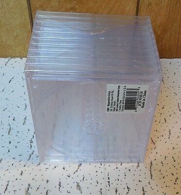 Package of 10 NEW 5.2mm Cd DVD Disk Jewel Cases