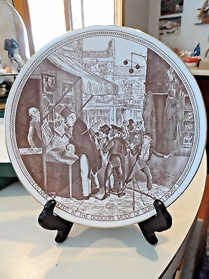 """8""""Crown Staffordshire Scene from Dickens Plate - Oliver - IOB"""