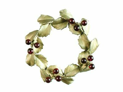 Ours Exclusively Holly Wreath Pin/brooch Michael Michaud Silver Seasons 5792Bzgn