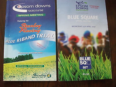 Epsom Race Cards, April, 2002 & 2007 - Both Days Feature The Blue Riband Trial
