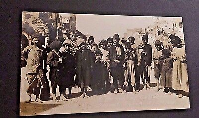 """WWI RPPC Beirut Syria 3/24/20 A """"Bunch of Children"""" Real Photo Postcard Clear!"""