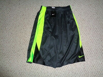 NEW NWT Boys Nike athletic basketball shorts size XL black  neon yellow