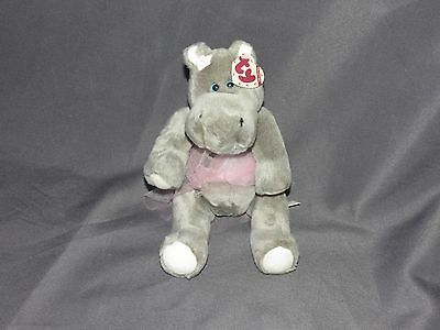 t14 Ty Attic Treasures Jointed Hippo Ballerina With Ear tag intact