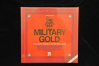 MILITARY GOLD Various Military Bands 4 LP Record Set RONCO Ltd Edn NEW