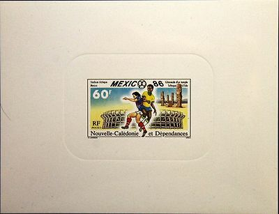 NEW CALEDONIA NEUKALEDONIEN 1986 781 DELUXE Soccer World Cup Fußball WM Mexico