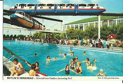 Butlins Minehead Monorail Over Outdoor Swimming Pool John Hinde Ltd 3M4 Pc