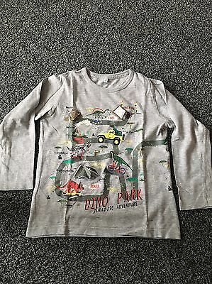 Boys Long Sleeved Dino Park Long Sleeved t-shirt From M&S. Age 4-5 Years.