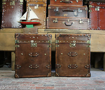 Beautiful Vintage Inspired Genuine Leather Trunks Chests