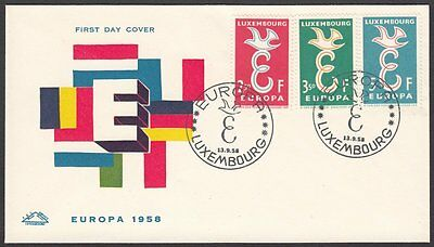 Luxembourg, 1958 Europa CEPT Illustrated FDC. Scarcer Cachet. Special Handstamp