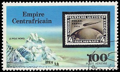 CENTRAL AFRICAN REPUBLIC C184 - Airship Zeppelin 75th Anniversary (pa6519)