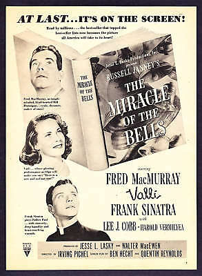 """1948 Frank Sinatra """"The Miracle of the Bells"""" promo ad"""