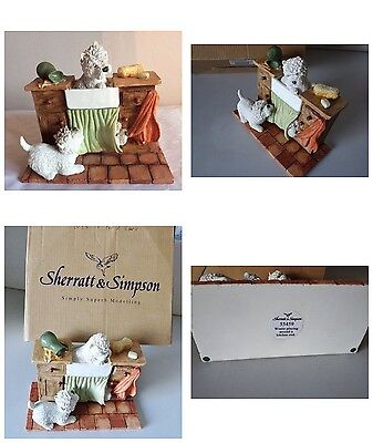 So CUTE Collectable Sherratt And Simpson Westies Around a Kitchen Sink BOXED