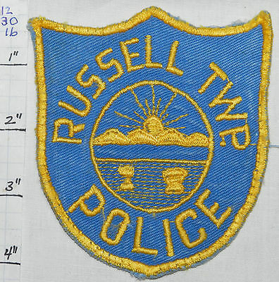 Ohio, Russell Township Police Dept Patch