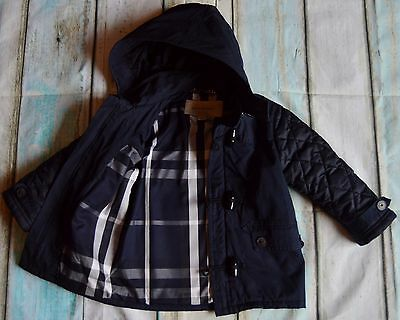 Burberry Baby Boys Designer Clothes Hooded Coat 2 Years Pristine