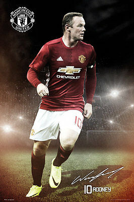 Manchester United FC Poster - Rooney 16/17 - New Man Utd Football poster SP1377