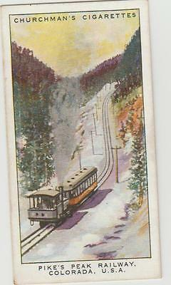 Churchman No 48 Wonderful Railway Travel Pikes Peak Railway Colorado USA c1930s