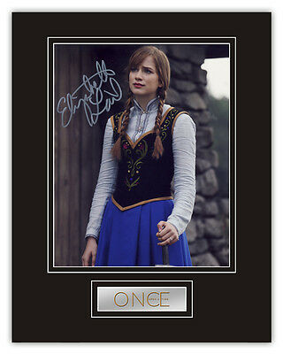 Sale! Once Upon A Time Elizabeth Lail (Anna) Signed 14x11 Display