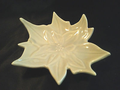 Porcelain Retro Leaf Open Salt Cellar Dip Dish