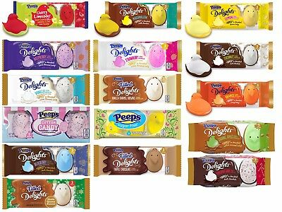 PEEPS 1oz-1.5oz 3pc Marshmallow DELIGHTS Candy EASTER Exp.7/17+ *YOU CHOOSE* New