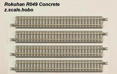 Rokuhan Z Scale R049 110mm Straight Track Sections *NEW $0 SHIP concrete ties